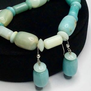 🌺Vintage Jay King Aquamarine Bracelet & Earrings